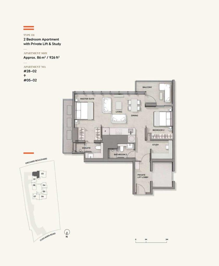 Cuscaden-Reserve-2-bedroom-study